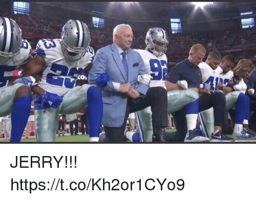 Football, Nfl, and Sports: JERRY!!! https://t.co/Kh2or1CYo9