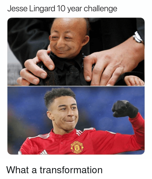 Lingard: Jesse Lingard 10 year challenge What a transformation