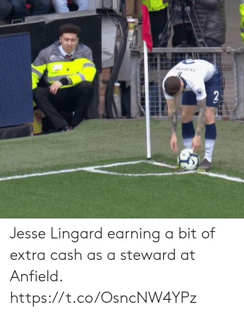 Lingard: Jesse Lingard earning a bit of extra cash as a steward at Anfield. https://t.co/OsncNW4YPz