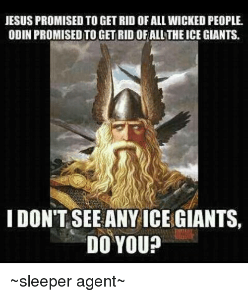 jesus promised to get rid of all wicked people odin 3999176 search odin memes on me me,Odin Meme