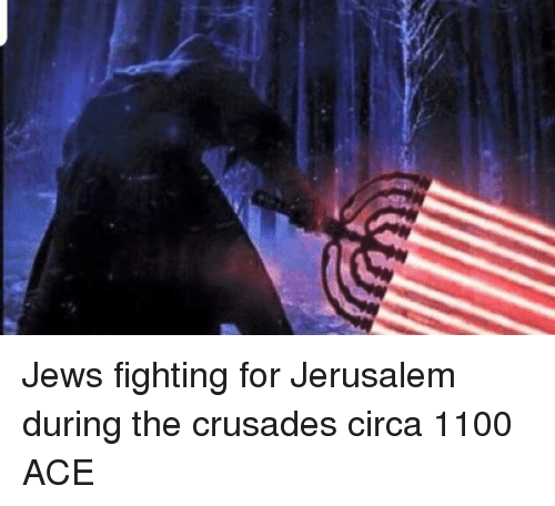 crusades: Jews fighting for Jerusalem during the crusades circa 1100 ACE