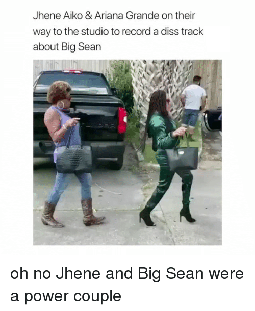 Big Sean: Jhene Aiko & Ariana Grande on their  way to the studio to record a diss track  about Big Sean oh no Jhene and Big Sean were a power couple