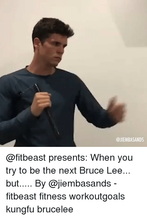 Bruce Lee: @JIEMBASANDS @fitbeast presents: When you try to be the next Bruce Lee... but..... By @jiembasands - fitbeast fitness workoutgoals kungfu brucelee