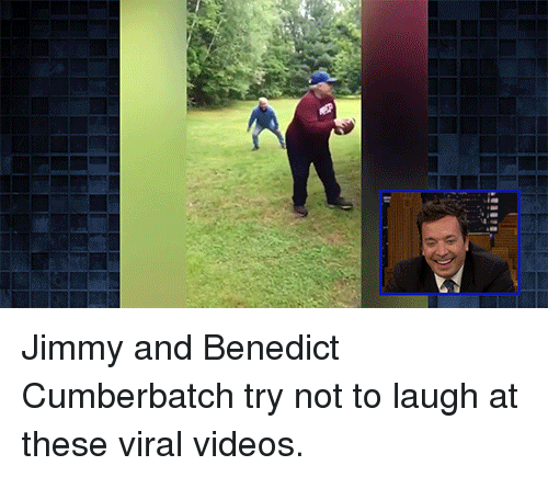 Benedict Cumberbatch: Jimmy and Benedict Cumberbatch try not to laugh at these viral videos.