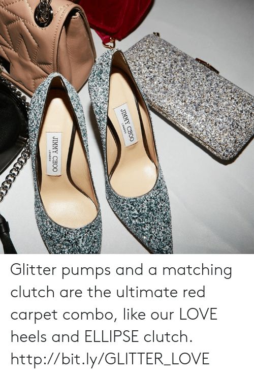 pumps: JIMMY CHOO Glitter pumps and a matching clutch are the ultimate red carpet combo, like our LOVE heels and ELLIPSE clutch.  http://bit.ly/GLITTER_LOVE