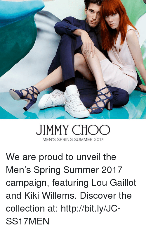 unveiling: JIMMY CHOO  MEN'S SPRING SUMMER 2017 We are proud to unveil the Men's Spring Summer 2017 campaign, featuring Lou Gaillot and Kiki Willems. Discover the collection at: http://bit.ly/JC-SS17MEN