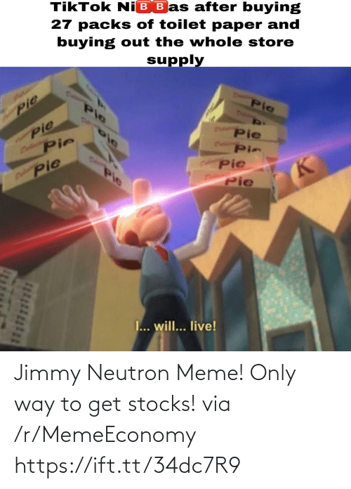 Meme, Stocks, and Jimmy Neutron: Jimmy Neutron Meme! Only way to get stocks! via /r/MemeEconomy https://ift.tt/34dc7R9
