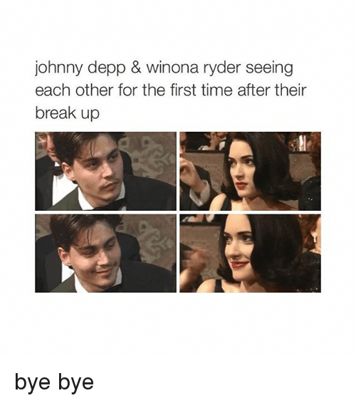 Johnny Depp, Ups, and Break: johnny depp & Winona ryder seeing  each other for the first time after their  break up bye bye
