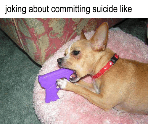 Committing Suicide: joking about committing suicide like