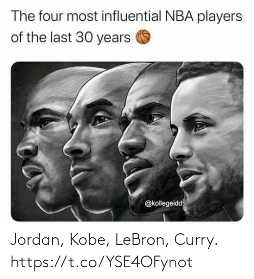 Lebron: Jordan, Kobe, LeBron, Curry. https://t.co/YSE4OFynot