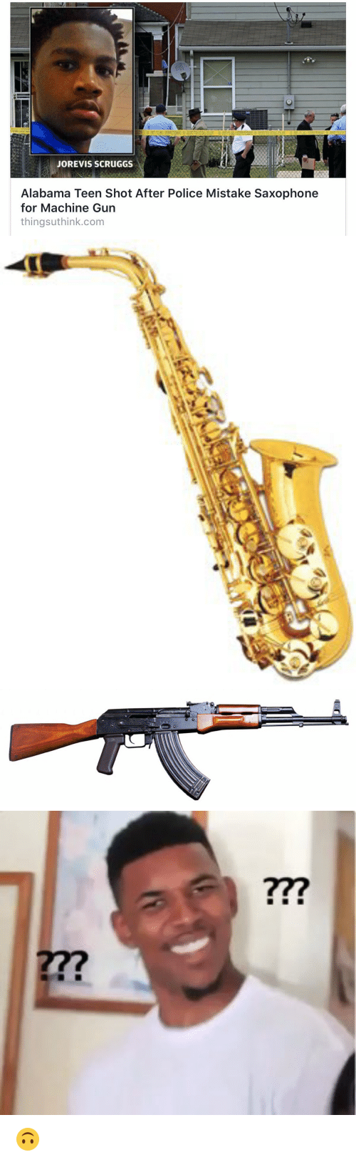 alabama after mistake saxophone for machine gun