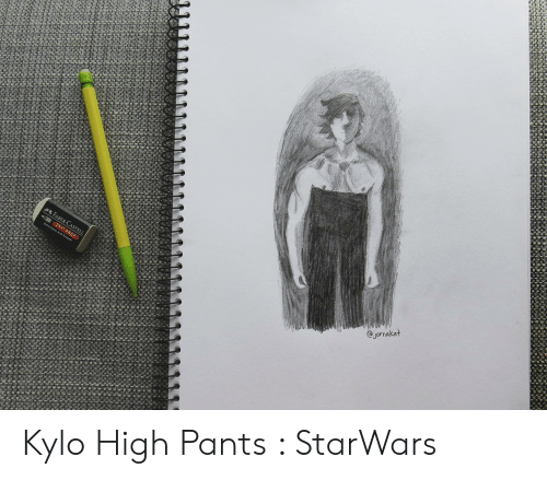 High Pants: jornakat  FABER-CASTELL  E PVC-FREE  Extra Clean And Smooth Kylo High Pants : StarWars