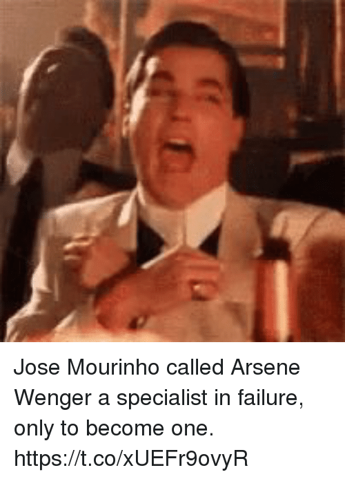 Arsene Wenger: Jose Mourinho called Arsene Wenger a specialist in failure, only to become one. https://t.co/xUEFr9ovyR