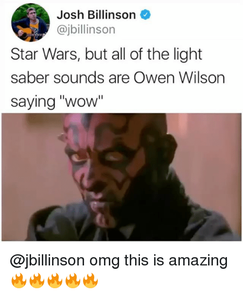 Wow You Re Amazing: Josh Billinson Star Wars But All Of The Light Saber Sounds