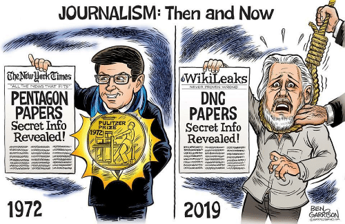 then and now: JOURNALISM: Then and Now  | TheNewHorkCimes  WikiLeaks  DNG  PAPERS  Secret Info  Revealed!  ALL THE NEWS THAT FITS  NEVER PROVEN WRONG  PENTAGON  PAPERS  Secret Info  Revealed!  PULITZER  PRIZE  1972  aw ww  1972  2019  BEN,  GARRISON  GRRRGRAPHICS