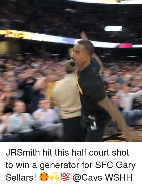 Cavs, Memes, and Wshh: JRSmith hit this half court shot to win a generator for SFC Gary Sellars! 🏀🙌💯 @Cavs WSHH