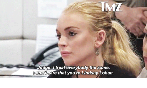 Lindsay Lohan: Judge: I treat everybody the same  don't care that you're Lindsay Lohan