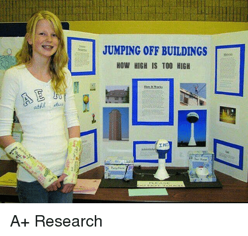 Funny, How High, and Too High: JUMPING OFF BUILDINGS  HOW HIGH IS TOO HIGH  INO A+ Research