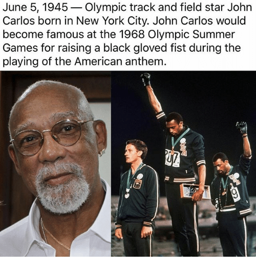 john carlos american former track and Sport news, live scores  support for the civil rights protest by american athletes tommy smith and john carlos  former 400 metres runner john steffensen joins.