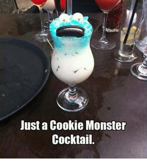 Cocktails: Just a Cookie Monster  Cocktail.