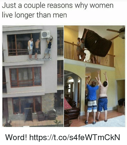 Memes, Live, and Women: Just a couple reasons why women  live longer than mer Word! https://t.co/s4feWTmCkN