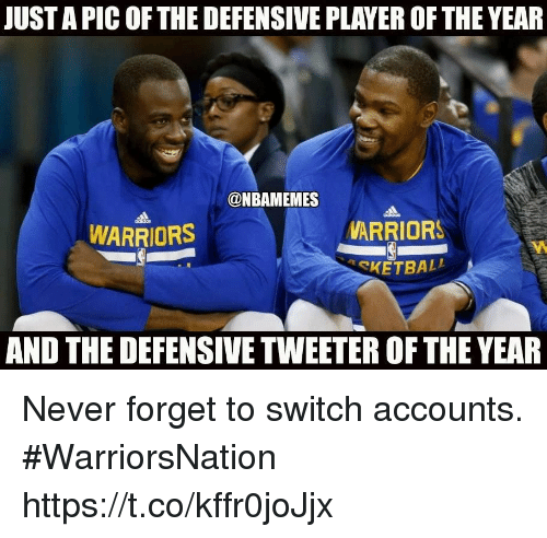 Warriors Year By Year: JUST A PIC OF THE DEFENSIVE PLAYER OF THE YEAR WARRIORS
