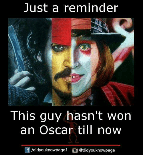 Memes, Oscars, and 🤖: Just a reminder  This guy hasn't won  an Oscar till now  团/didyouknowpagel。@didyouknowpage