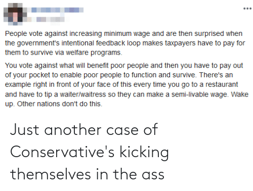 The Ass: Just another case of Conservative's kicking themselves in the ass