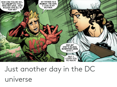 Another Day: Just another day in the DC universe