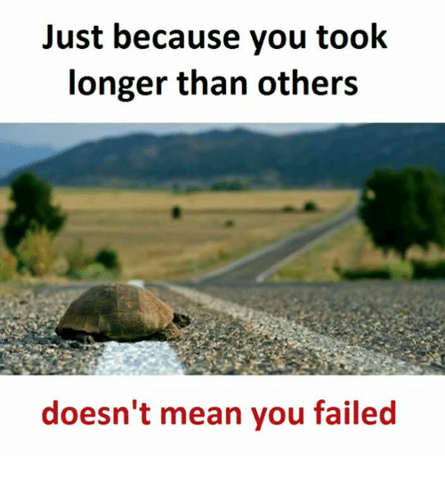 Mean, Means, and You: Just because you took  longer than others  doesn't mean you failed