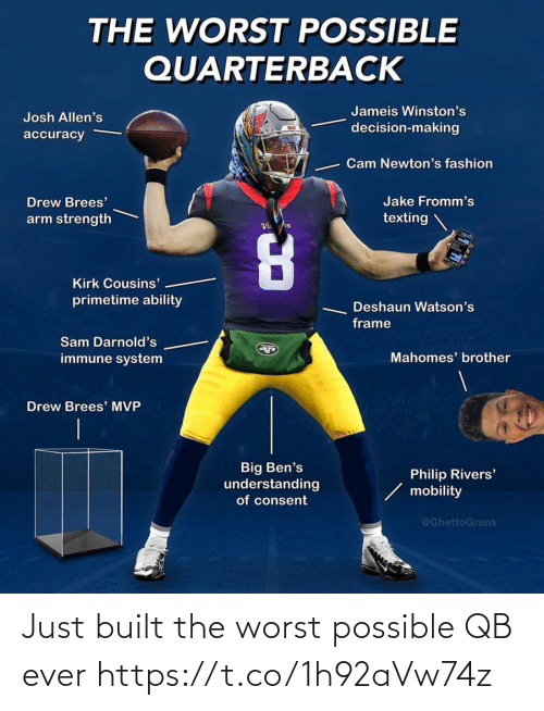 worst: Just built the worst possible QB ever https://t.co/1h92aVw74z