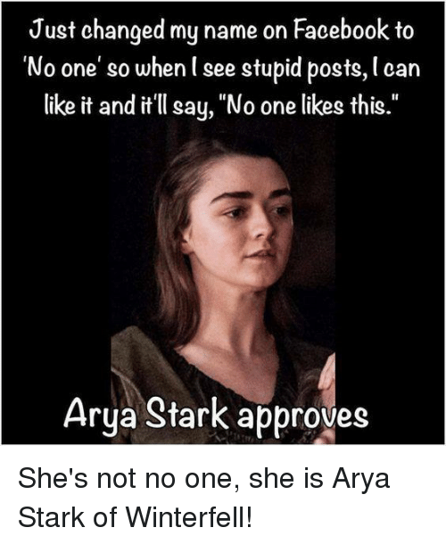 Likes Quotes On Facebook: Funny Arya Stark Memes Of 2016 On SIZZLE
