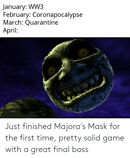 Final boss: Just finished Majora's Mask for the first time, pretty solid game with a great final boss