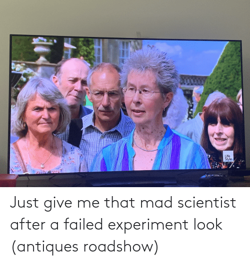 antiques roadshow: Just give me that mad scientist after a failed experiment look (antiques roadshow)