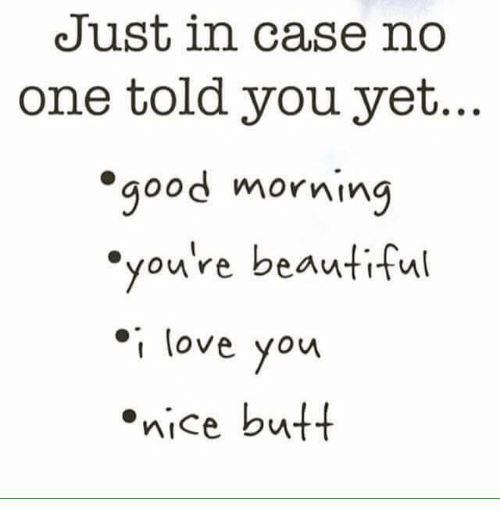 Good Morning You Re Beautiful Meme : Just in case no one told you yet good morning re