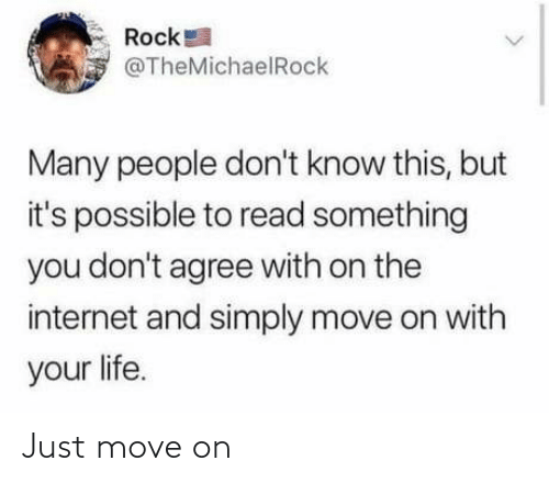 move on: Just move on