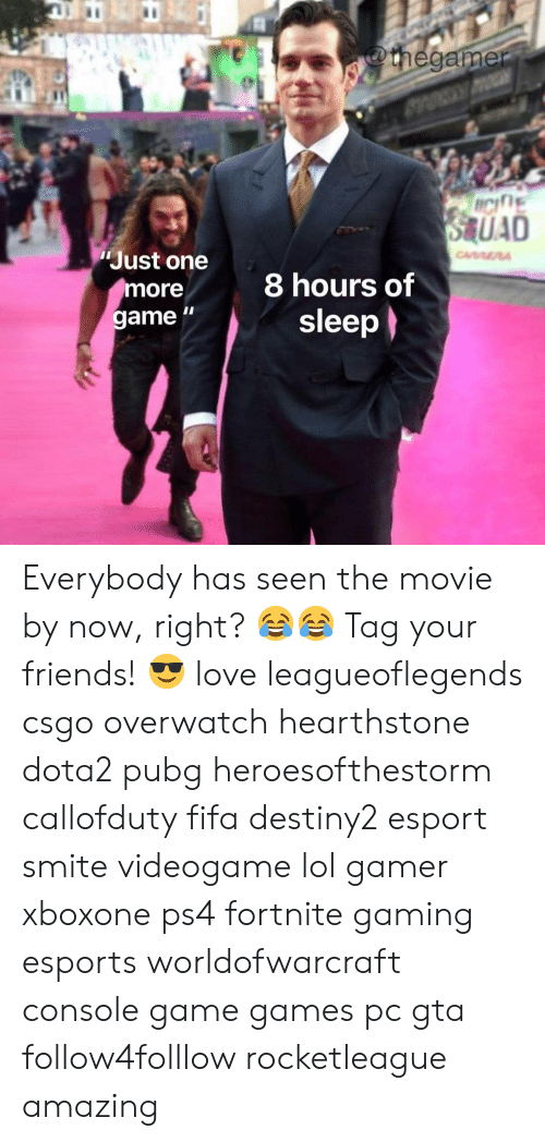 "hearstone: Just one  more  game ""  8 hours of  sleep Everybody has seen the movie by now, right? 😂😂 Tag your friends! 😎 love leagueoflegends csgo overwatch hearthstone dota2 pubg heroesofthestorm callofduty fifa destiny2 esport smite videogame lol gamer xboxone ps4 fortnite gaming esports worldofwarcraft console game games pc gta follow4folllow rocketleague amazing"