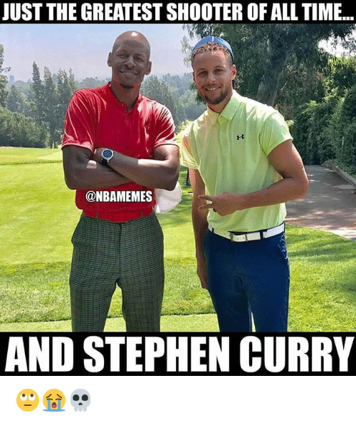 Nba, Stephen, and Stephen Curry: JUST THE GREATEST SHOOTER OF ALL TIME...  @NBAMEMES  AND STEPHEN CURRY 🙄😭💀