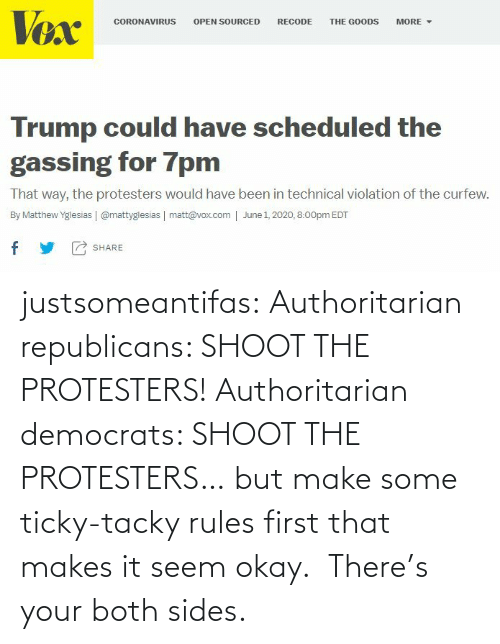 tacky: justsomeantifas: Authoritarian republicans: SHOOT THE PROTESTERS!