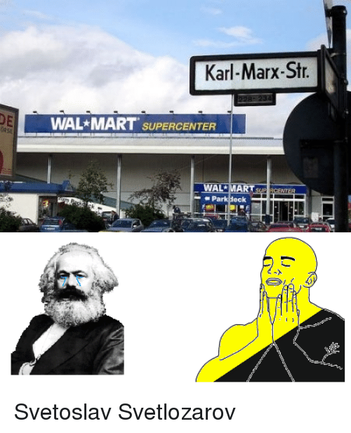 karl marx and walmart This being something simple enough that even karl marx managed to get it right, a useful example being this announcement from walmart: as you know, the president and congress have approved a lower business tax rate.