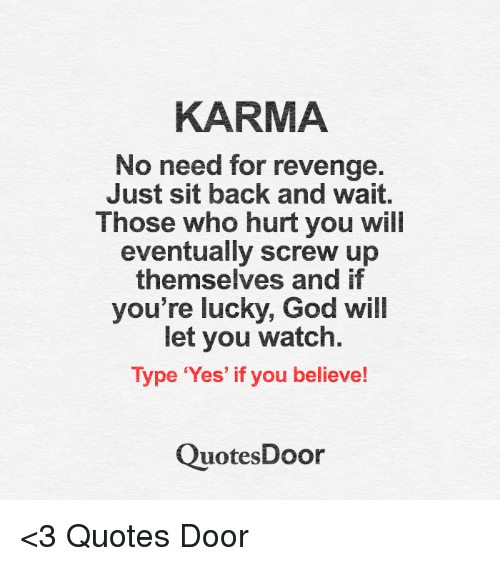 Karma And Revenge Quotes: 25+ Best Memes About 🤖