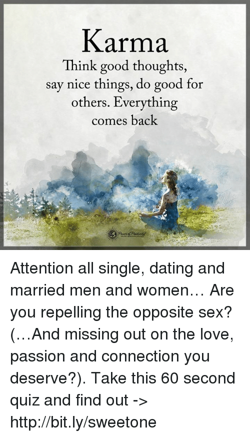 Karma Of Dating A Married Man