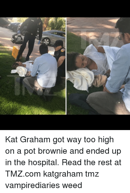 kat: Kat Graham got way too high on a pot brownie and ended up in the hospital. Read the rest at TMZ.com katgraham tmz vampirediaries weed