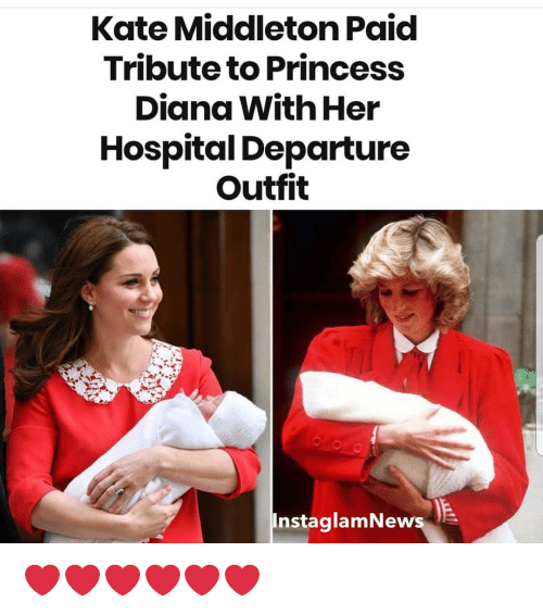 Middleton: Kate Middleton Paid  Tribute to Princess  Diana With Her  Hospital Departure  Outfit  InstaglamNews ❤❤❤❤❤❤