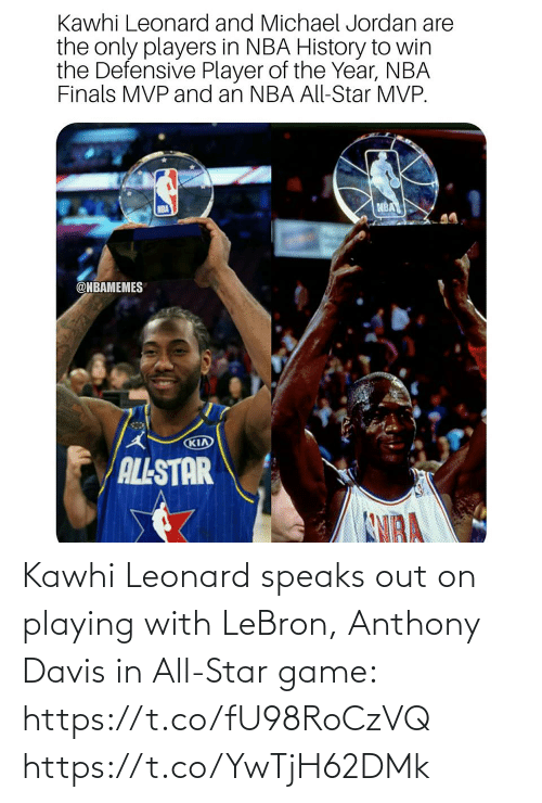 Leonard: Kawhi Leonard speaks out on playing with LeBron, Anthony Davis in All-Star game: https://t.co/fU98RoCzVQ https://t.co/YwTjH62DMk