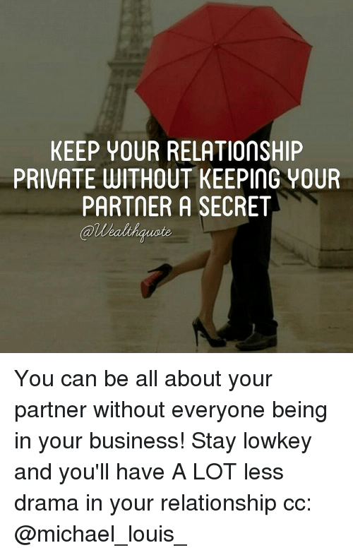 keeping a relationship secret from coworke