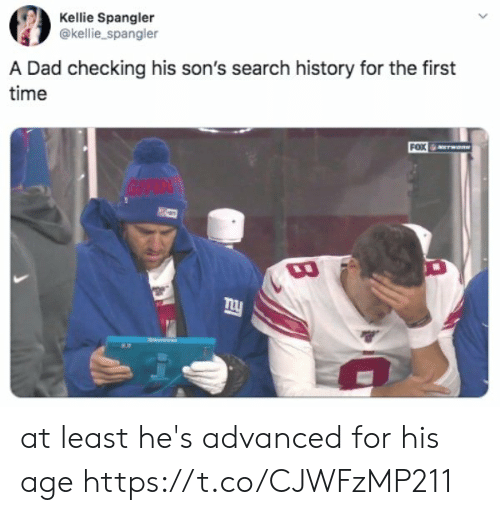 Dad, History, and Search: Kellie Spangler  @kellie_spangler  A Dad checking his son's search history for the first  time  FOX  GIAN at least he's advanced for his age https://t.co/CJWFzMP211
