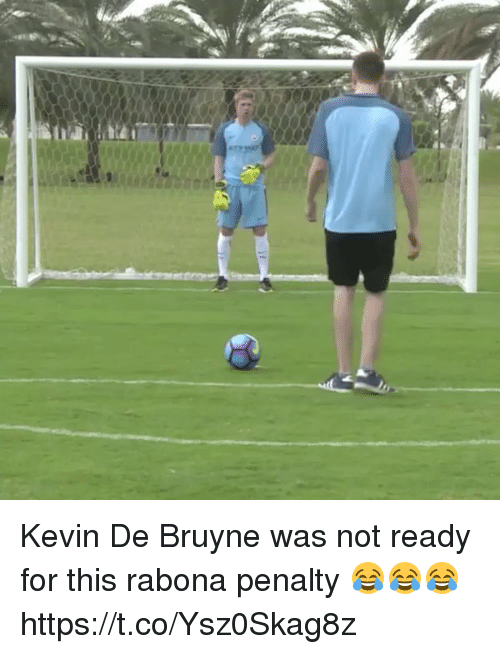 Soccer, Kevin, and For: Kevin De Bruyne was not ready for this rabona penalty 😂😂😂 https://t.co/Ysz0Skag8z