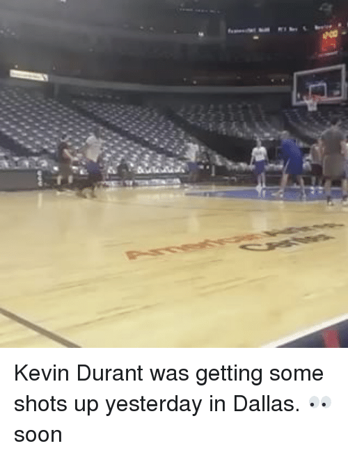 Basketball, Golden State Warriors, and Sports: Kevin Durant was getting some shots up yesterday in Dallas. 👀 soon