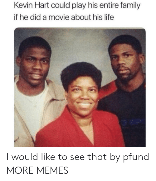 Dank, Family, and Kevin Hart: Kevin Hart could play his entire family  if he did a movie about his life I would like to see that by pfund MORE MEMES